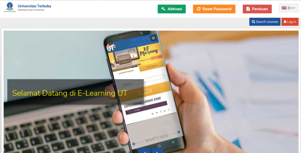 Screenshot Elearning UT
