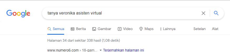 Hasil Pencarian di Google Page