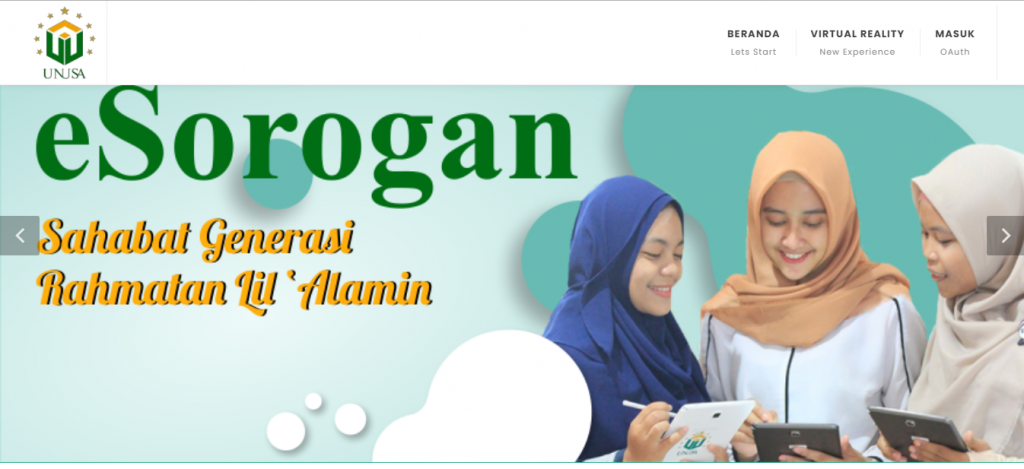 Screenshot eSorogan (ESorogan Contohnya di : esorogan.unusa.ac.id)