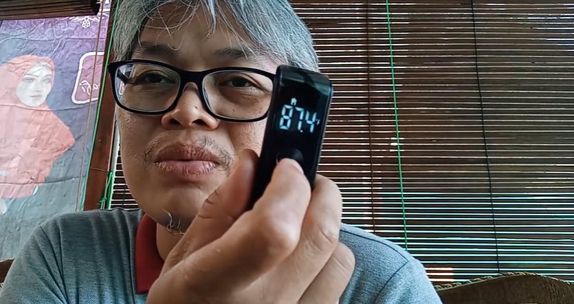 Cara Merubah F ke C pada Termometer Digital